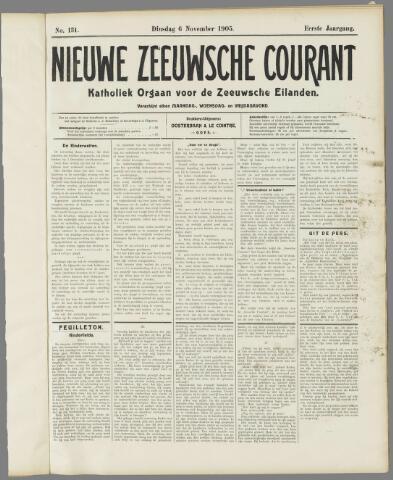Nieuwe Zeeuwsche Courant 1905-11-06