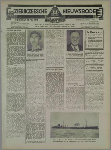 Zierikzeesche Nieuwsbode 1940-07-18