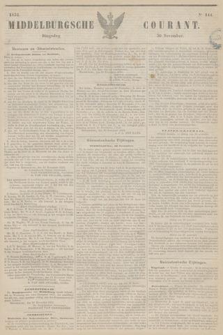 Middelburgsche Courant 1852-11-30