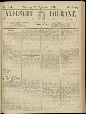 Axelsche Courant 1892-09-24