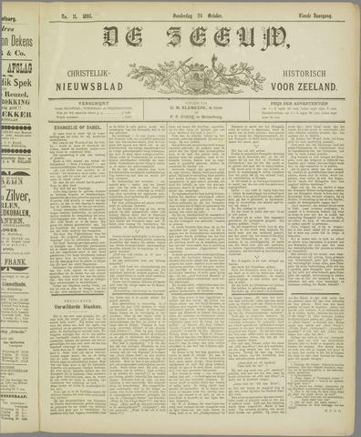De Zeeuw. Christelijk-historisch nieuwsblad voor Zeeland 1895-10-24