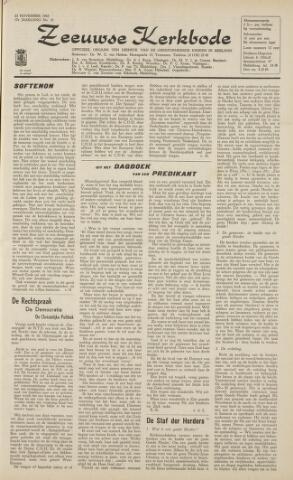 Zeeuwsche kerkbode, weekblad gewijd aan de belangen der gereformeerde kerken/ Zeeuwsch kerkblad 1962-11-23