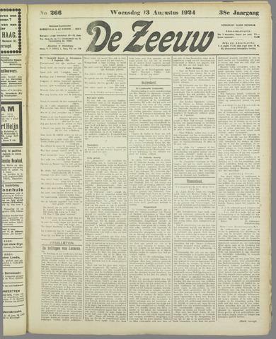 De Zeeuw. Christelijk-historisch nieuwsblad voor Zeeland 1924-08-13