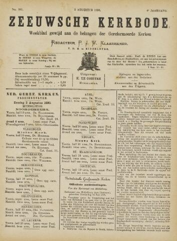 Zeeuwsche kerkbode, weekblad gewijd aan de belangen der gereformeerde kerken/ Zeeuwsch kerkblad 1890-08-02