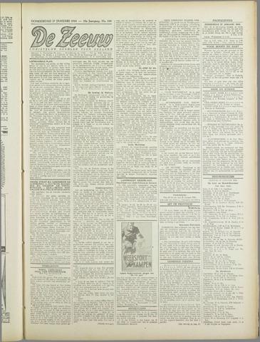 De Zeeuw. Christelijk-historisch nieuwsblad voor Zeeland 1944-01-27