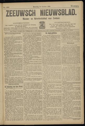 Ter Neuzensch Volksblad. Vrijzinnig nieuws- en advertentieblad voor Zeeuwsch- Vlaanderen / Zeeuwsch Nieuwsblad. Nieuws- en advertentieblad voor Zeeland 1919-10-18