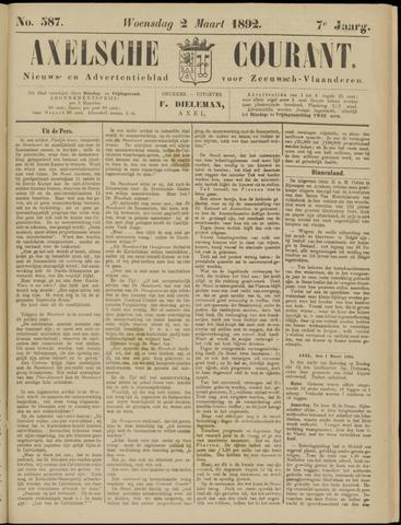 Axelsche Courant 1892-03-02