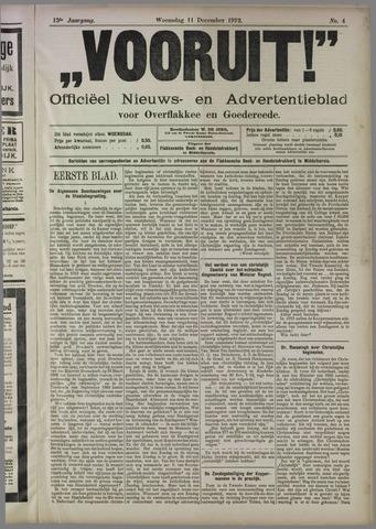 """""""Vooruit!""""Officieel Nieuws- en Advertentieblad voor Overflakkee en Goedereede 1912-12-11"""