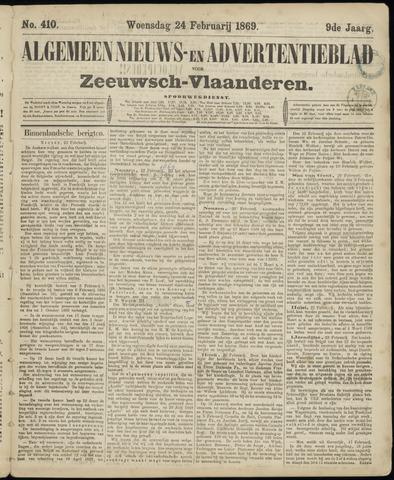 Ter Neuzensche Courant. Algemeen Nieuws- en Advertentieblad voor Zeeuwsch-Vlaanderen / Neuzensche Courant ... (idem) / (Algemeen) nieuws en advertentieblad voor Zeeuwsch-Vlaanderen 1869-02-24