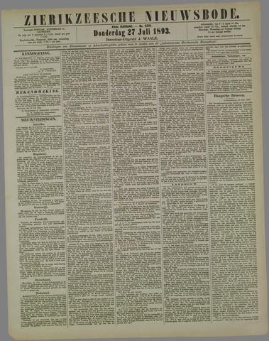 Zierikzeesche Nieuwsbode 1893-07-27