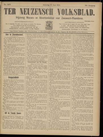 Ter Neuzensch Volksblad. Vrijzinnig nieuws- en advertentieblad voor Zeeuwsch- Vlaanderen / Zeeuwsch Nieuwsblad. Nieuws- en advertentieblad voor Zeeland 1914-06-13