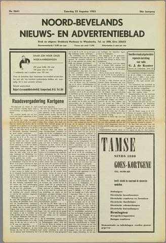 Noord-Bevelands Nieuws- en advertentieblad 1953-08-22