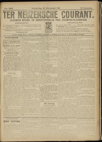Ter Neuzensche Courant. Algemeen Nieuws- en Advertentieblad voor Zeeuwsch-Vlaanderen / Neuzensche Courant ... (idem) / (Algemeen) nieuws en advertentieblad voor Zeeuwsch-Vlaanderen 1915-11-25