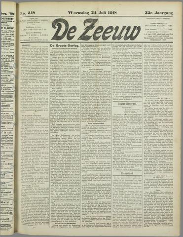 De Zeeuw. Christelijk-historisch nieuwsblad voor Zeeland 1918-07-24