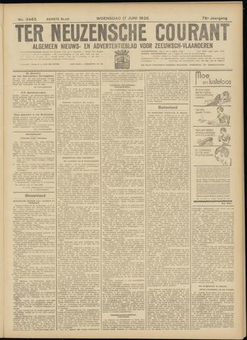 Ter Neuzensche Courant. Algemeen Nieuws- en Advertentieblad voor Zeeuwsch-Vlaanderen / Neuzensche Courant ... (idem) / (Algemeen) nieuws en advertentieblad voor Zeeuwsch-Vlaanderen 1936-06-17
