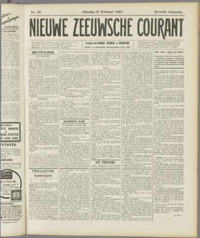 Nieuwe Zeeuwsche Courant 1911-02-21