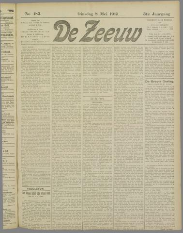 De Zeeuw. Christelijk-historisch nieuwsblad voor Zeeland 1917-05-08