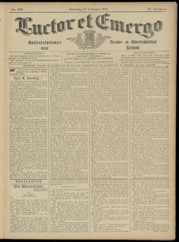 Luctor et Emergo. Antirevolutionair nieuws- en advertentieblad voor Zeeland / Zeeuwsch-Vlaanderen. Orgaan ter verspreiding van de christelijke beginselen in Zeeuwsch-Vlaanderen 1915-02-13