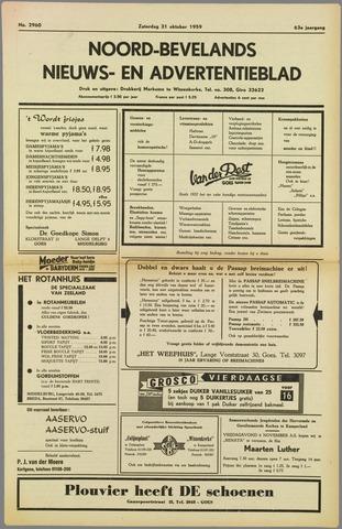 Noord-Bevelands Nieuws- en advertentieblad 1959-10-31