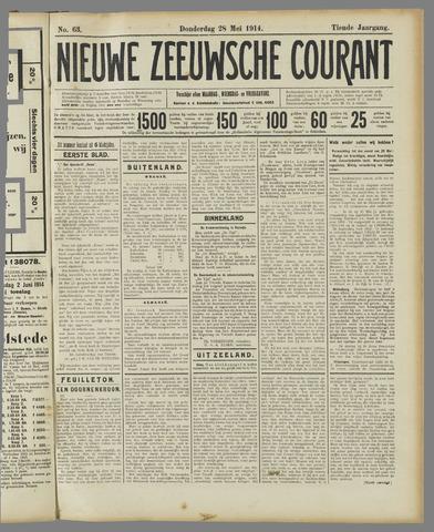 Nieuwe Zeeuwsche Courant 1914-05-28