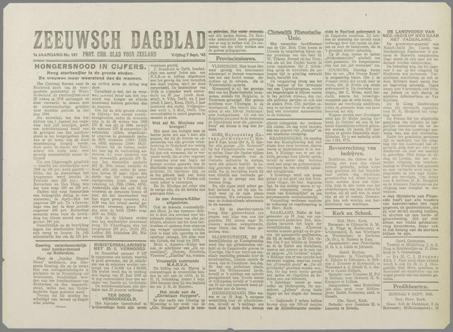 Zeeuwsch Dagblad 1945-09-07