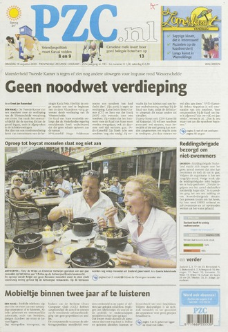 Provinciale Zeeuwse Courant 2009-08-18