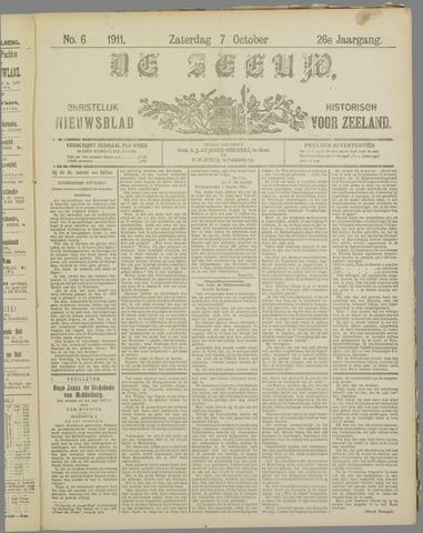 De Zeeuw. Christelijk-historisch nieuwsblad voor Zeeland 1911-10-07