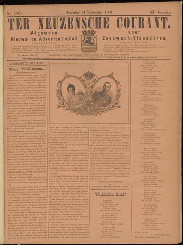 Ter Neuzensche Courant. Algemeen Nieuws- en Advertentieblad voor Zeeuwsch-Vlaanderen / Neuzensche Courant ... (idem) / (Algemeen) nieuws en advertentieblad voor Zeeuwsch-Vlaanderen 1907-09-14