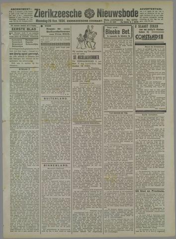 Zierikzeesche Nieuwsbode 1934-11-26