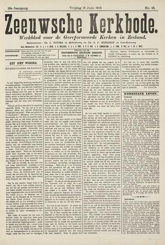 Zeeuwsche kerkbode, weekblad gewijd aan de belangen der gereformeerde kerken/ Zeeuwsch kerkblad 1915-06-18