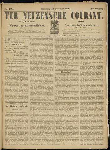 Ter Neuzensche Courant. Algemeen Nieuws- en Advertentieblad voor Zeeuwsch-Vlaanderen / Neuzensche Courant ... (idem) / (Algemeen) nieuws en advertentieblad voor Zeeuwsch-Vlaanderen 1892-12-28