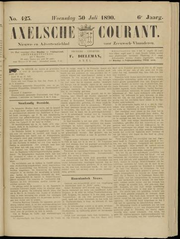 Axelsche Courant 1890-07-30