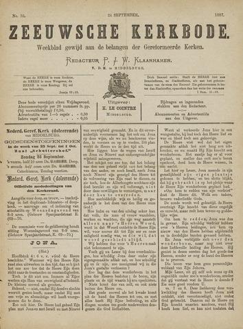 Zeeuwsche kerkbode, weekblad gewijd aan de belangen der gereformeerde kerken/ Zeeuwsch kerkblad 1887-09-24