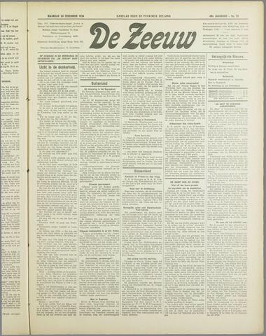 De Zeeuw. Christelijk-historisch nieuwsblad voor Zeeland 1934-12-24
