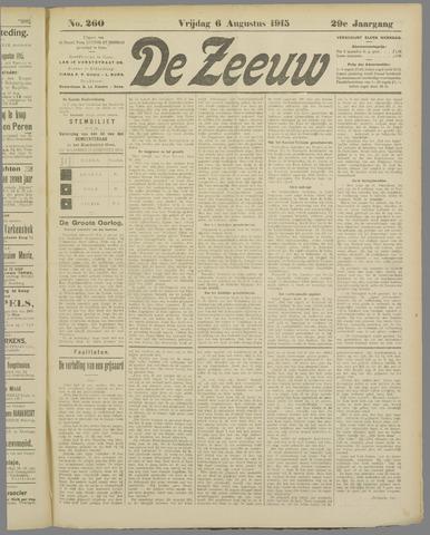 De Zeeuw. Christelijk-historisch nieuwsblad voor Zeeland 1915-08-06