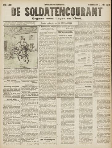 De Soldatencourant. Orgaan voor Leger en Vloot 1915-07-07