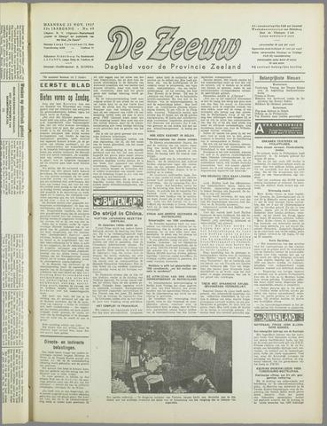 De Zeeuw. Christelijk-historisch nieuwsblad voor Zeeland 1937-11-22
