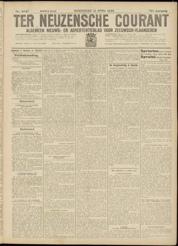 Ter Neuzensche Courant. Algemeen Nieuws- en Advertentieblad voor Zeeuwsch-Vlaanderen / Neuzensche Courant ... (idem) / (Algemeen) nieuws en advertentieblad voor Zeeuwsch-Vlaanderen 1938-04-13