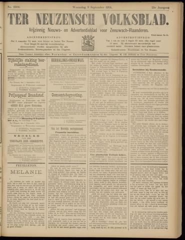Ter Neuzensch Volksblad. Vrijzinnig nieuws- en advertentieblad voor Zeeuwsch- Vlaanderen / Zeeuwsch Nieuwsblad. Nieuws- en advertentieblad voor Zeeland 1914-09-09