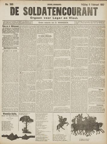 De Soldatencourant. Orgaan voor Leger en Vloot 1917-02-09