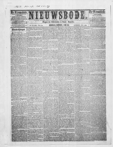 Sheboygan Nieuwsbode 1858-05-04