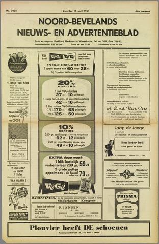 Noord-Bevelands Nieuws- en advertentieblad 1961-04-15