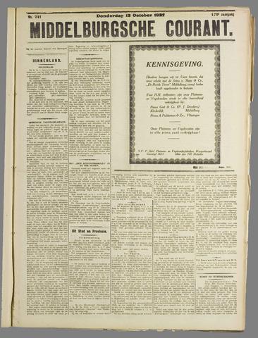 Middelburgsche Courant 1927-10-13