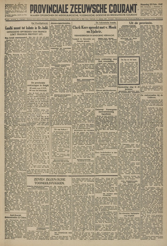 Provinciale Zeeuwse Courant 1946-02-25