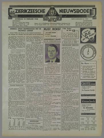 Zierikzeesche Nieuwsbode 1940-02-10
