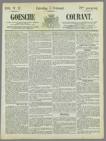 Goessche Courant 1891-02-07