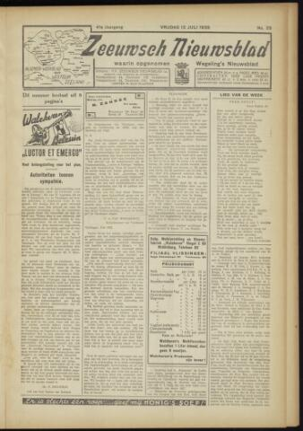 Zeeuwsch Nieuwsblad/Wegeling's Nieuwsblad 1935-07-12