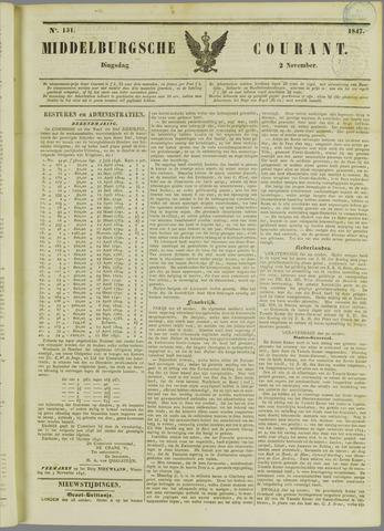 Middelburgsche Courant 1847-11-02