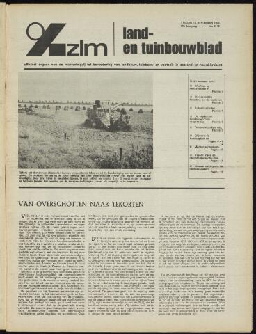 Zeeuwsch landbouwblad ... ZLM land- en tuinbouwblad 1972-09-15