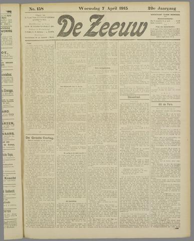 De Zeeuw. Christelijk-historisch nieuwsblad voor Zeeland 1915-04-07